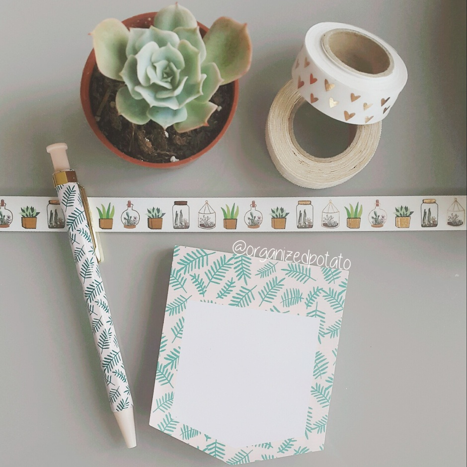 Succulent Washi Tape Post-it Notes