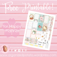 Free Planner Printable: Vintage Floral Easter