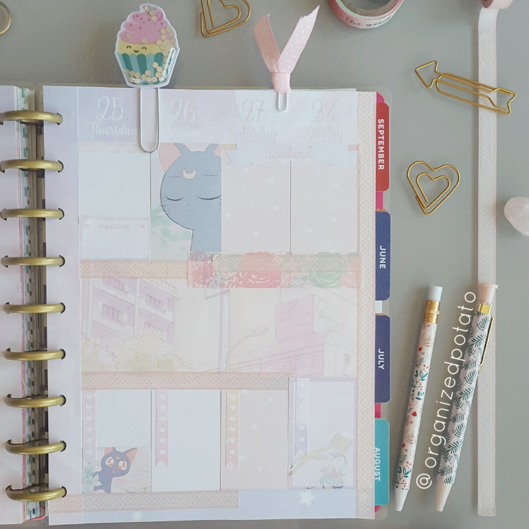 Free Planner Printable for Happy Planner! #sailormoon #pastel #happyplanner #planner #erincondren #plannerinspo #plannerideas #bishojosenshi