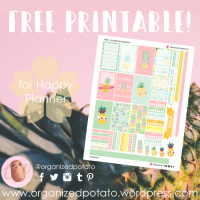 Free Planner Printable: Pineapples