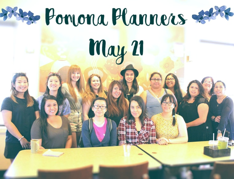 Pomona Planners Group Pic [May 21 Meetup] #plannermeetup #plannergirl #plannerfriends