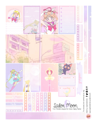 Free Planner Printable Sailor Moon Page 1