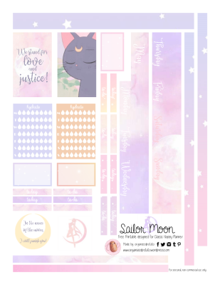Free Planner Printable Sailor Moon Page 2