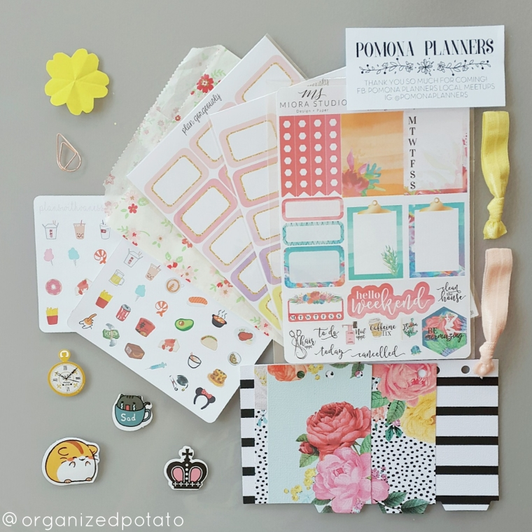 Planner Stickers and other Planner Supplies from the Pomona Planners Meetup [Sponsers include Miora Studios, Plan Gorgeously, Plans with Vaness, and Tcdplans]