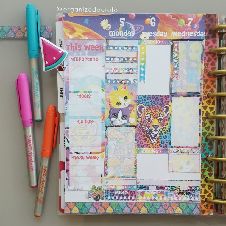 how AMAZING is this Lisa Frank Free Planner Printable for Happy Planner?! #NEED 😍 #lisafrank #psychedelic #groovy #trippy #freeprintable #planner #happyplanner #erincondren #filofax #kikkik #websterspages #TN #DIY #craft #stickers #plannerstickers #plannerideas #plannerinspo