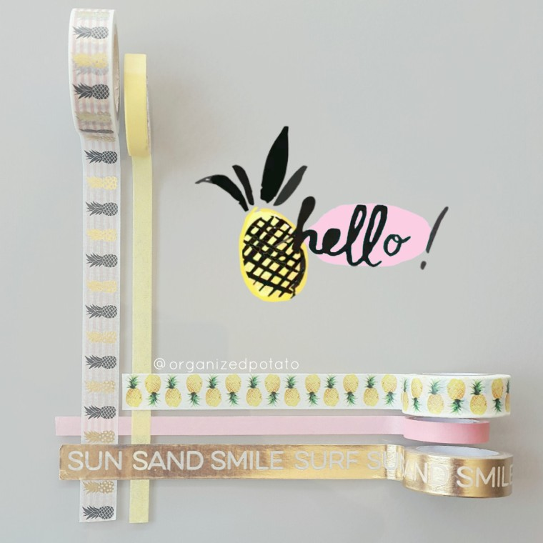 happy washi wednesday! #planner #plannergirl #washi #washitape #erincondren #happyplanner #filofax #bujo #kikkik #websterspages #pastel #pineapple #goldfoiling #goldfoil #pink #yellow #sun #sand #smile #surf #washiwednesday #washiaddict #washiaddicted #washiobsessed #plannersupplies #plannerideas #plannerinspo