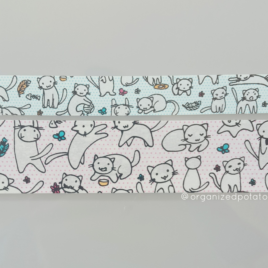 Happy Washi Wednesday! #washi #washitape #washiaddict #washiobsessed #cats #pastel #crazycatlady #kittens #kitties #cat #plannerlove #planneraccessories #plannerideas #plannerinspo #pink #blue #decorative #decorativetape