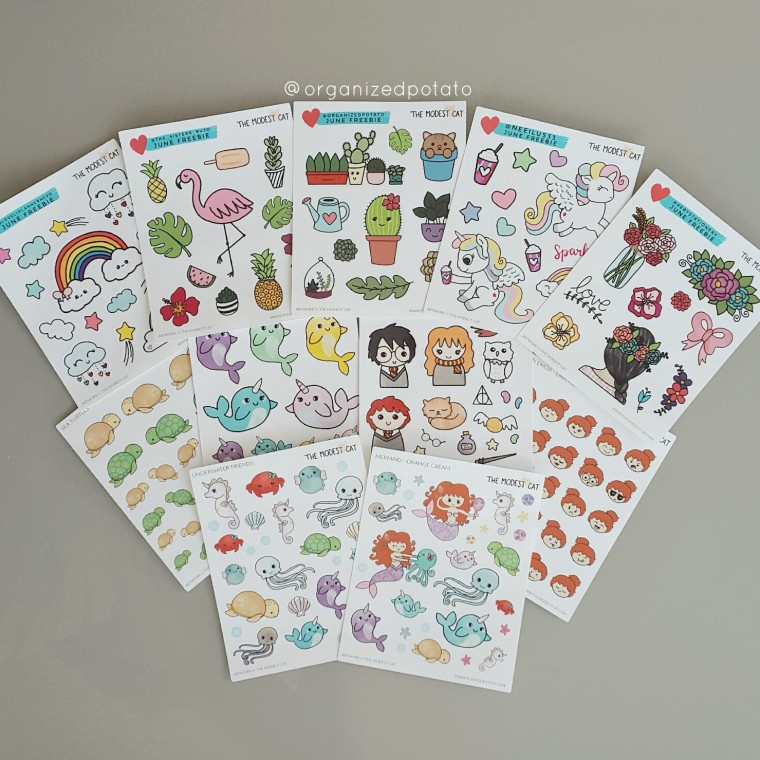 Harry Potter Stickers from The Modest Cat #plannersupplies #plannerstickers #stickers #etsyshop #etsystickers #themodestcat #tmcplanfam #kawaii #harrypotter #ronweasley #hermionegranger #sortinghat #hedwig #goldensnitch #hogwarts #magic #tropical #flamingo #rainbow #unicorn #succulent #cacti #beach #mermaid #turtle #seahorse #narwhal #ocean