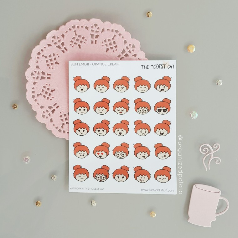 Emoji Stickers from The Modest Cat #plannersupplies #plannerstickers #stickers #etsyshop #etsystickers #themodestcat #tmcplanfam #emoji #emojis #kawaii