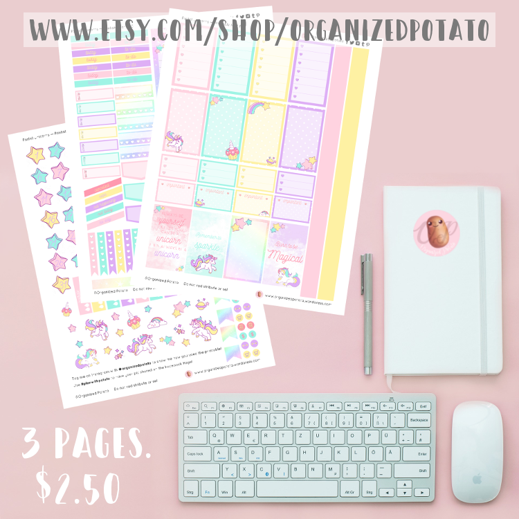 Pastel Unicorns Printable - 3 FULL pages of stickers for $2! Available now in my Etsy shop! #rainbow #unicorns #plannerstickers #etsyshop #etsy #etsyfinds #DIYstickers #plannerprintables #rainbows #unicorn #pastel #magical #etsystickers #happyplanner #erincondren #bujo #bulletjournal #plannerinspiration #plannerinspo #plannerideas #bujoideass #bujoinspo #kawaii