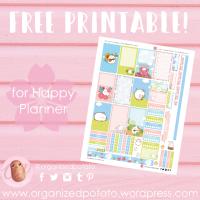 Free Planner Printable: Springtime Molang