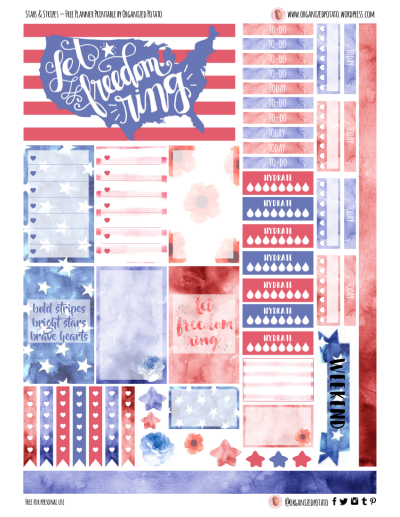 Stars and Stripes Free Printable for HPC #planner #plannerprintable #happyplanner #4thofjuly #july4th #usa #america #independenceday #patriotic #starsandstripes #americanflag #usflag #americana #american #landofthefree #homeofthebrave #letfreedomring #erincondren #plannerideas #plannerinspiration #freeprintable #freeplannerprintable #filofax #kikkik #erincondrenlifeplanner #mambi #meandmybigideas #create365 #DIY #plannerstickers #plannerinspo