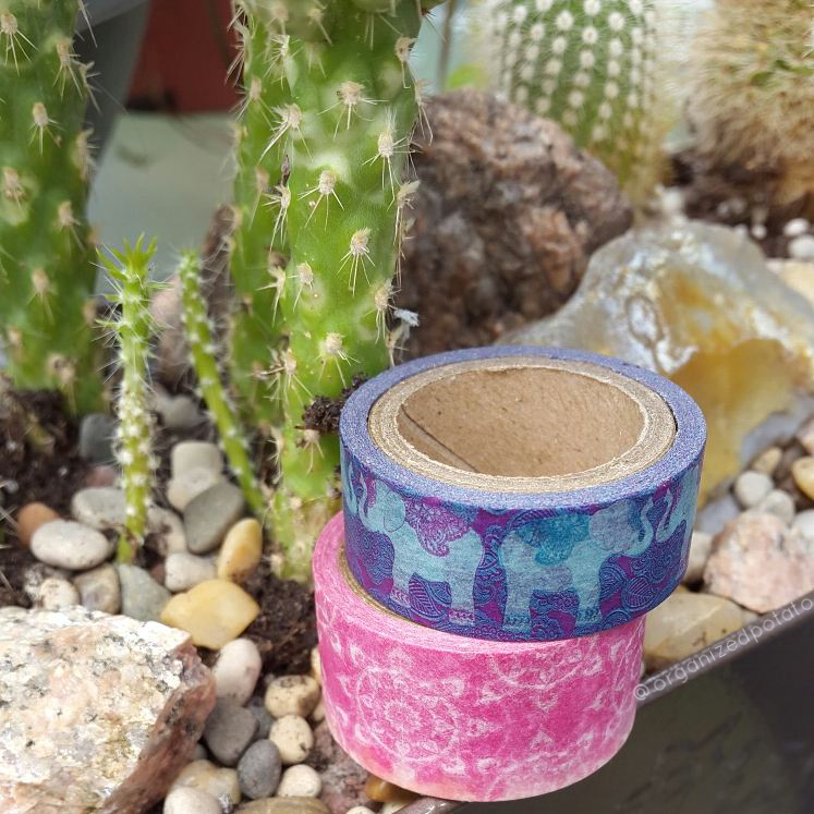 #washiwednesday #washi #washitape #elephants #mandala #boho #gypsy #zen #cactus #cacti #cactusgarden #plants