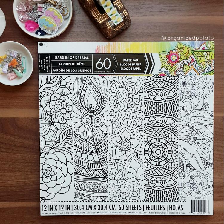 #7daydestash Challenge - Day 2 [Too Pretty to Ruin] #adultcoloringbook #coloringbook #coloring #adultcoloringbooks #coloringbooks #zentagle #lineart #destash #declutter #organize #organizedpotato