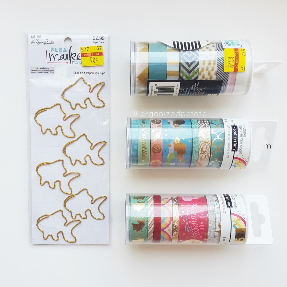 #7daydestash Challenge - Day 7 [it was on sale] #washi #washitape #plannersupplies #plannerideas #decotape #scrapbooking #paperclips #hobbylobby #michaels