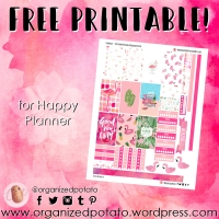 Free Planner Printable: Flamingos