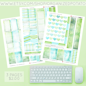 Yoga - Blue & Green. 3-page Planner Printable for Classic Happy Planner. #planner #happyplanner #classichappyplanner #happyplannerclassic #meandmybigideas #mambi #mambiplanner #yoga #zen #elephant #mandala #boho #yogaposes #plannerprintables #plannerprintable #DIYstickers #DIY #plannerideas #plannerinspo #eclp #erincondren #kikkik #filofax #websterspages #travelersnotebook #DIYplannerideas