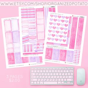 Yoga - Pink & Purple. 3-page Planner Printable for Classic Happy Planner. #planner #happyplanner #classichappyplanner #happyplannerclassic #meandmybigideas #mambi #mambiplanner #yoga #zen #elephant #mandala #boho #yogaposes #plannerprintables #plannerprintable #DIYstickers #DIY #plannerideas #plannerinspo #eclp #erincondren #kikkik #filofax #websterspages #travelersnotebook #DIYplannerideas