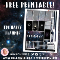 Free Planner Printable: Purple Galaxy