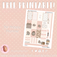 Free Planner Printable: Pusheen