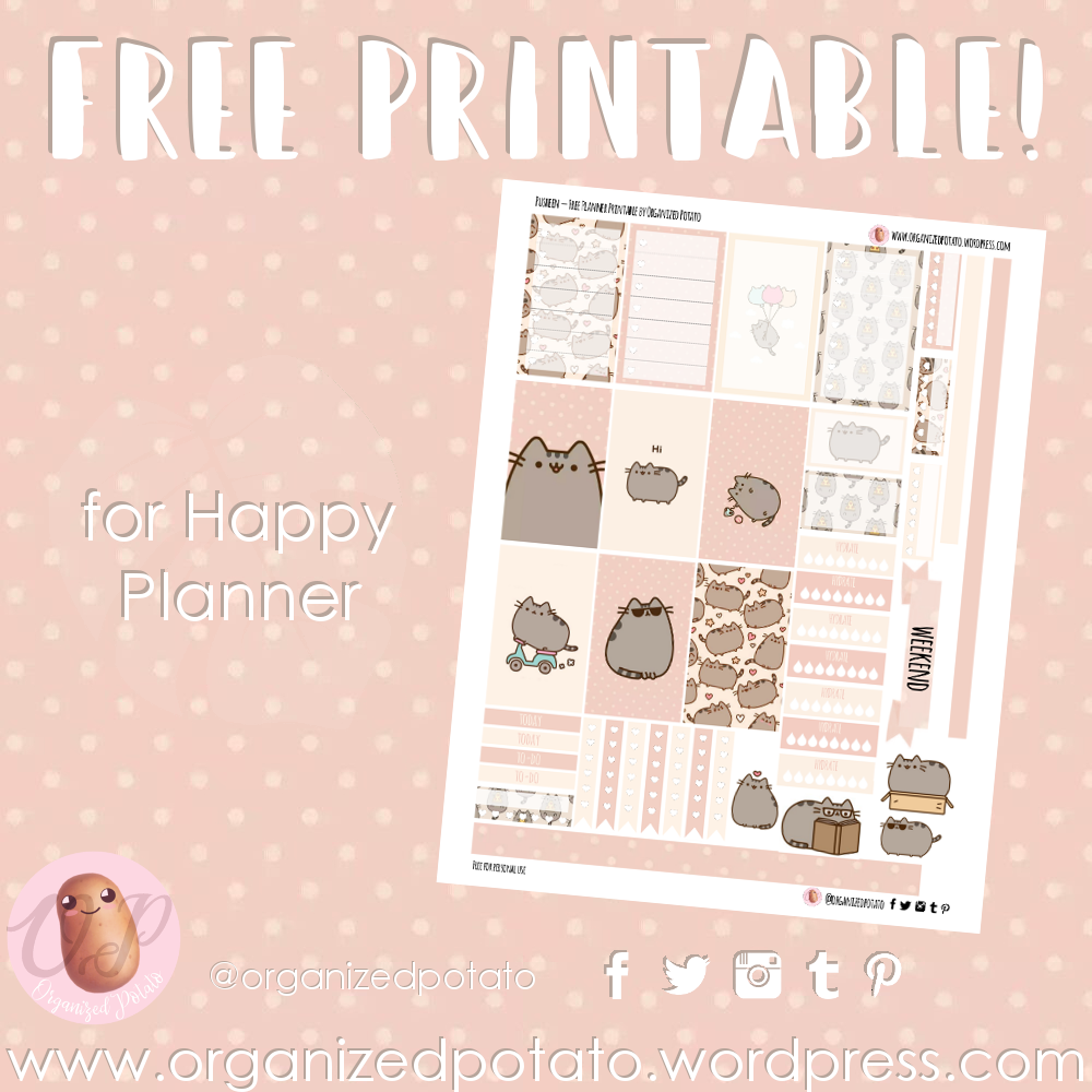 image about Pusheen Printable named No cost Planner Printable: Pusheen Prepared Potato