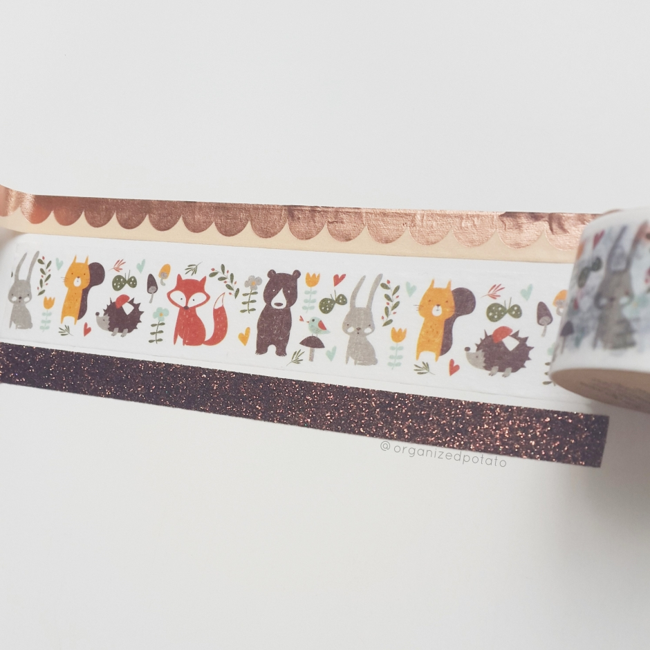 Washi Wednesday 9/20/17 #washi #washitape #washiaddict #washihoarder #planner #plannersupplies #fall #kawaii #cute #woodlandcreatures #woodlandanimals #squirrels #fox #foxes #bunnies #bunny #bear #bears #kawaiianimals #glitter #DIY #papercraft #DIYideas #sparkle
