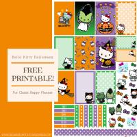 Free Planner Printable: Hello Kitty Halloween