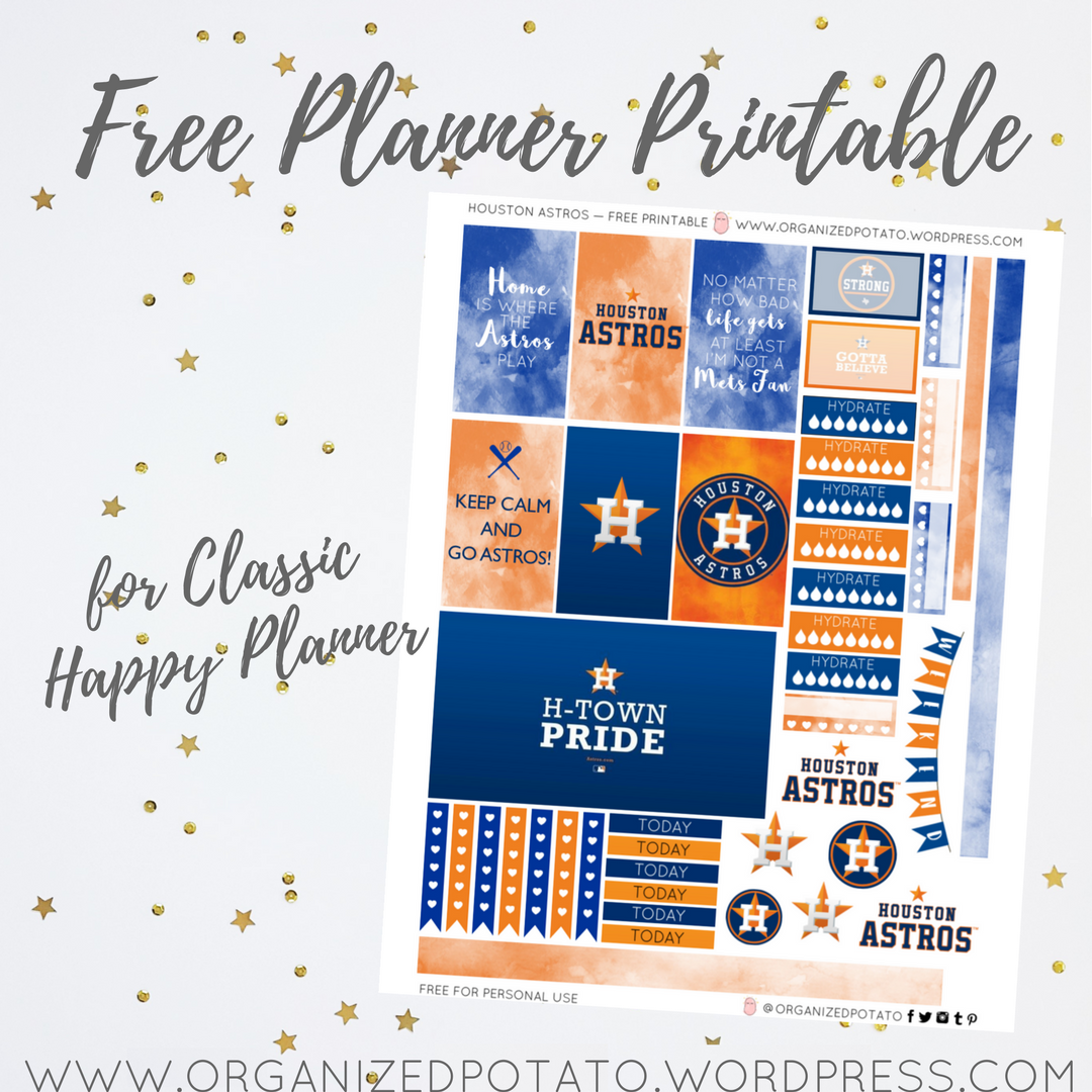 image relating to Houston Astros Printable Schedule identified as Absolutely free Planner Printable: Houston Astros Prepared Potato