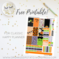 Free Planner Printable: Kawaii Halloween