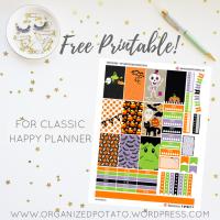 Free Planner Printable: Kawaii Halloween