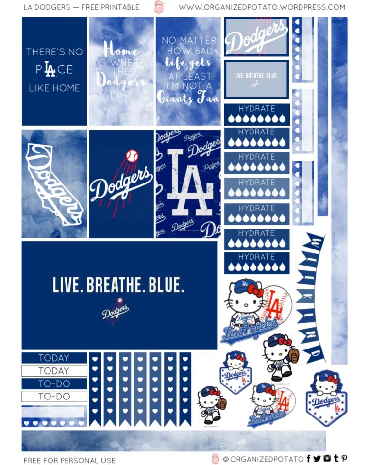 LA Dodgers - Free Printable for HPC1