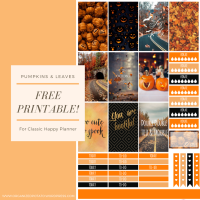 Free Planner Printable: Pumpkins and Leaves