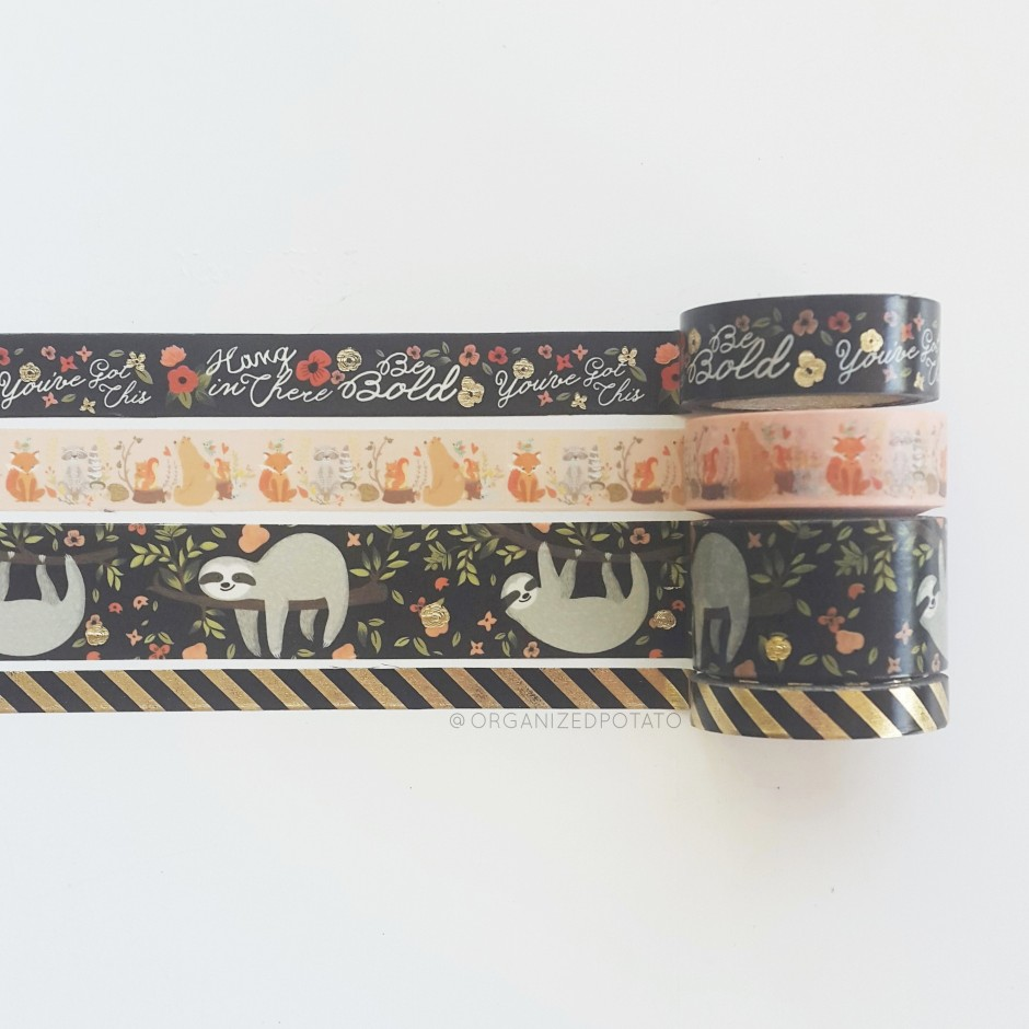 Happy Washi Wednesday! #washi #washitape #washiaddict #washiaddicted #washiwasted #washihoarder #washihoard #washilover #sloth #sloths #fox #foxes #bear #raccoon #squirrel #bears #squirrels #bears #woodlandanimal #woodlandcritters #fall #autumn #papercraft #DIY #scrapbooking #scrapbook #DIYideas #plannerideas #planner #erincondren #happyplanner #filofax #travelersnotebook #websterspages