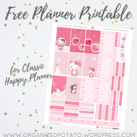 Free Planner Printable: Hello Kitty Pink Christmas