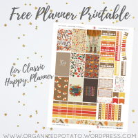 Free Planner Printable: Thanksgiving