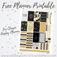 Free Planner Printable: Black & Gold Holiday Cheer