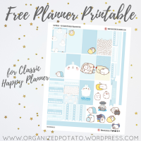 Free Planner Printable: Blue Molang