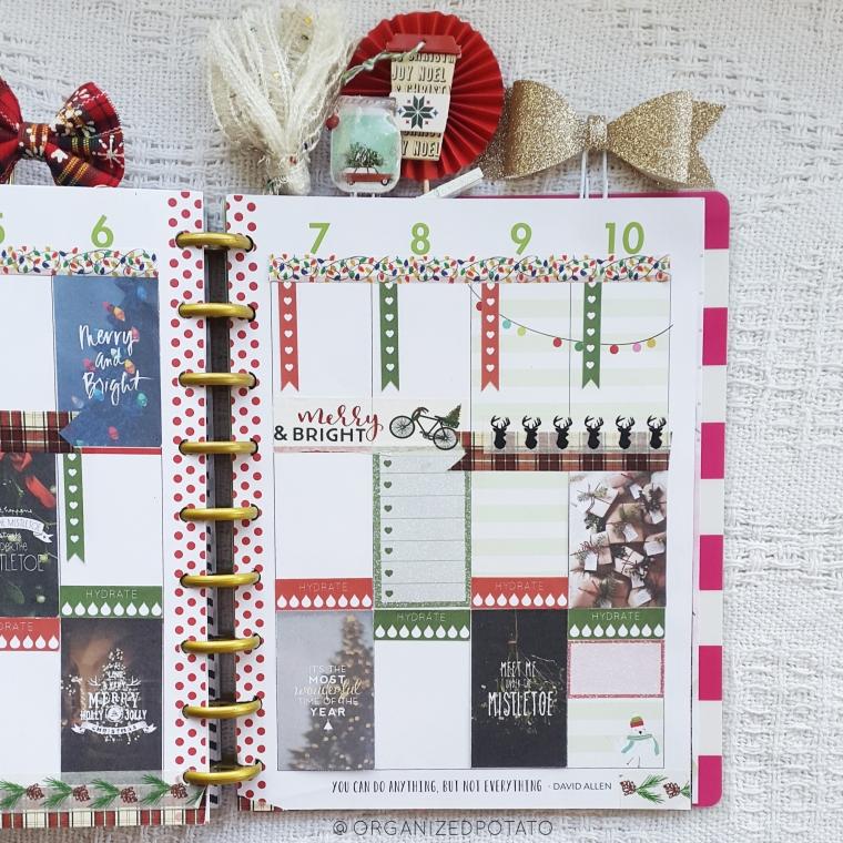 Merry & Bright - Free Printable for Classic Happy Planner #planner #happyplanner #freeprintable #printable #merryandbright #plannerprintables #printables #christmas #merrychristmas #happyholidays #owl #santahat #christmastree #mistletoe #deer #bujo #bulletjournal #bujoideas #bulletjournalideas #DIYbujo #travelersnotebook #erincondren #filofax #websterspages #organizedpotato