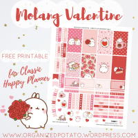 Free Planner Printable: Molang Valentine