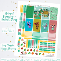 Free Planner Printable: Animal Crossing - Pocket Camp