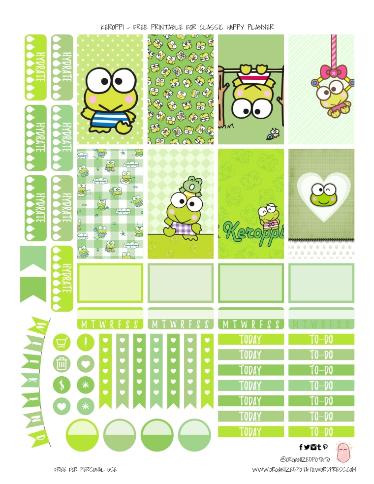 Keroppi - Free Printable for HPC