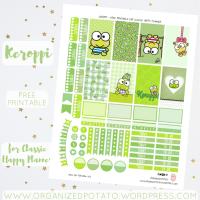 Free Planner Printable: Keroppi
