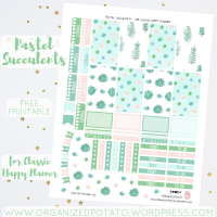 Free Planner Printable: Pastel Succulents