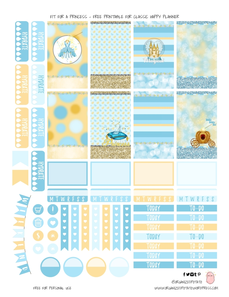 Fit for a Princess - Free Printable for HPC