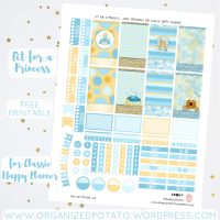 Free Planner Printable: Fit for a Princess
