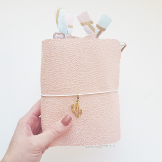 pink leather DIY TN by organizedpotato
