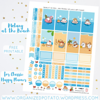 Free Planner Printable: Molang at the Beach