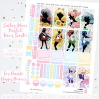 Free Planner Printable: Sailor Moon - Pastel Inner Senshi
