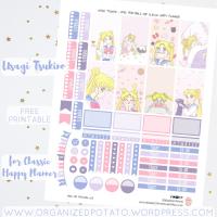 Free Planner Printable: Usagi Tsukino