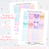 Free Planner Printable: Persona 5 Pastel Masks